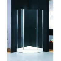Wholesale Diamond Frosted Glass Shower Enclosure Frameless , Shower Quadrant Enclosures With Lifting Rotated Profile from china suppliers