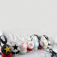 Wholesale Star Mix Style Portable Stereo Headphones For MP4 / Computer 108db from china suppliers