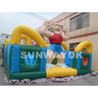 Wholesale Rent Funny Hercules Inflatable Fun City For Outside Kids blow up playground from china suppliers