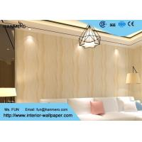 Wholesale Home Decorating Modern Removable Wallpaper Light Refection with Warm beige color from china suppliers