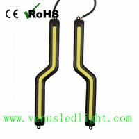 Wholesale LED COB Z Shape Car Auto DRL Driving Daytime Running Lamp Fog Light White*2 12V from china suppliers