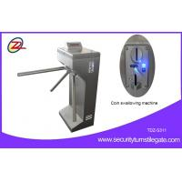 Wholesale Vertical Coin Operated Turnstiles , Electronic Controlled Access Turnstile Security Gates For Gym from china suppliers