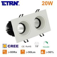 Wholesale ETRN Brand CREE COB Square 2.5 inch 10W x2 Dimmable LED Downlights Ceiling Lights Recessed from china suppliers