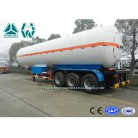 Wholesale White Color LPG Semi Trailer , Propane Transport Trailers With Tri Axle from china suppliers