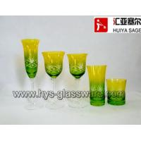 Wholesale Engraved flute glasses, wine glasses, tumblers, sprayed two-color 2014 new designs from china suppliers