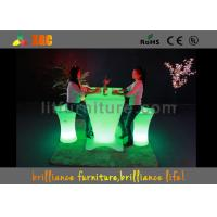 Wholesale Waterproof RGB LED Bar Tables , LED Cocktail Table Glowing LED bar counter from china suppliers
