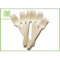 Wholesale Wooden Biodegradable Disposable Cutlery Forks For Picnic Take out Food from china suppliers