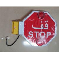 Wholesale Electric School bus stop arm  mechanism for UAE bus stop signal with 4 LED warning light from china suppliers