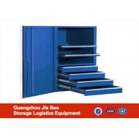 Wholesale Red / Blue Roller Metal Adjustable Lockable Tool Storage Cabinets With Drawers from china suppliers
