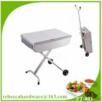 Wholesale High quality european stainless steel trolley barbecue grill / charcoal grill from china suppliers