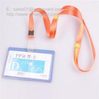 Wholesale Nylon id lanyard with horizontal plastic card, nylon badge lanyards from china suppliers