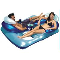 Wholesale Double bed inflatable mattresses with logo printing for swimming from china suppliers