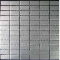 Wholesale Stainless Brushed Strip Metal Mosaic Tiles For Kitchen Floor 23x23mm from china suppliers