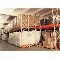Wholesale Push Back Rack / Oranger Pushback Racking Maintenance Free With Pallet Carts Carriages from china suppliers