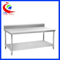 Wholesale Rolling Stainless Steel Work Table / commercial kitchen prep tables from china suppliers