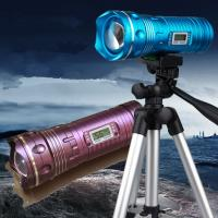 Wholesale 9 Files Yellow&Blue&White 5W Led Rotating Zoom Night Fishing Light Digital Led Display from china suppliers
