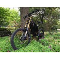 Quality Fast Full Suspension Powerful Electric Bike 1500w / Electric Powered Mountain Bike With 48v Samsung Lithium Battery for sale