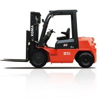 3 Stage Forklift Truck Diesel3000kg Rated Capacity With 180 Degree Rearview Mirror