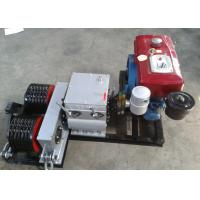 Quality Double Drum Hoist Winch 5 Ton with Diesel Engine for tower erection for sale