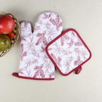 Wholesale Leaves Printed Heat Resistant Microwave Professional Oven Gloves Pot Holder from china suppliers