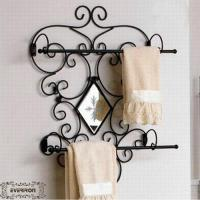 Wholesale metal towel shelf bathroom rack hook from china suppliers