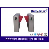 Wholesale Half Height Safety Access Control Speed Gate Turnstile , Flap Barrier Gate from china suppliers