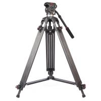 Wholesale High Performance Video Camera Tripods With Fluid Heads , 160cm Height from china suppliers