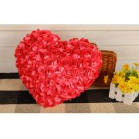 Buy cheap Creative Heart shape pillow rose flower design heart cusion doll great gift 35cm red from wholesalers