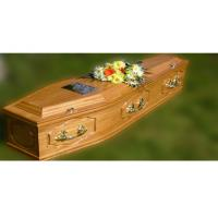 Wholesale MDF material wooden coffins for adult , casket furniture from china suppliers