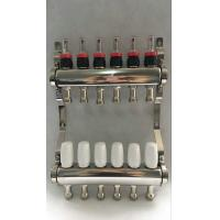 Wholesale White Color Control Floor Heating Manifold Italy Style Flow Meter from china suppliers