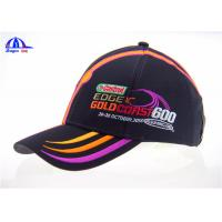 Wholesale 6 Panel Polyester Racing Baseball Caps Custom Baseball Hats With fFlat Embroidery from china suppliers