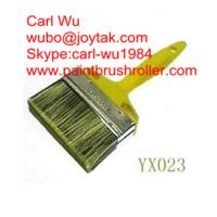 Natural pure bristle Chinese bristle synthetic mix shed fence paint brush wood handle plastic handle 4 inch WB-006