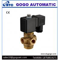 Wholesale Brass Normally Open 3 Way Water Solenoid Valve With Direct Drive Type G1/4 Port from china suppliers