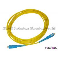 Wholesale 3mm High Tensile SM Fiber Optic Cable , Single Mode Fiber Optic Cable Blue Connector from china suppliers