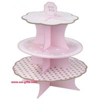 Wholesale Fashion Colorful Design 3 Tier Paper Cardboard Cupcake Stand,Wholesale Wedding Cake Stand from china suppliers