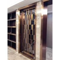 Buy cheap Metal screen golden color shinny reflective screen partition panel for wall dividers or door parititons from wholesalers