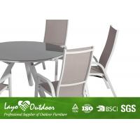Nice Looking 7PCS Extendable Dining Table Set With Adjustable Sling Chairs