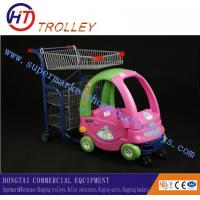 Wholesale Supermarket Four Wheel Plastic Children Shopping Carts with Baby Seat from china suppliers