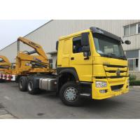 Wholesale Yellow 40ft Truck Mounted Crane 3 Axle Self Loading Container Truck Trailer from china suppliers