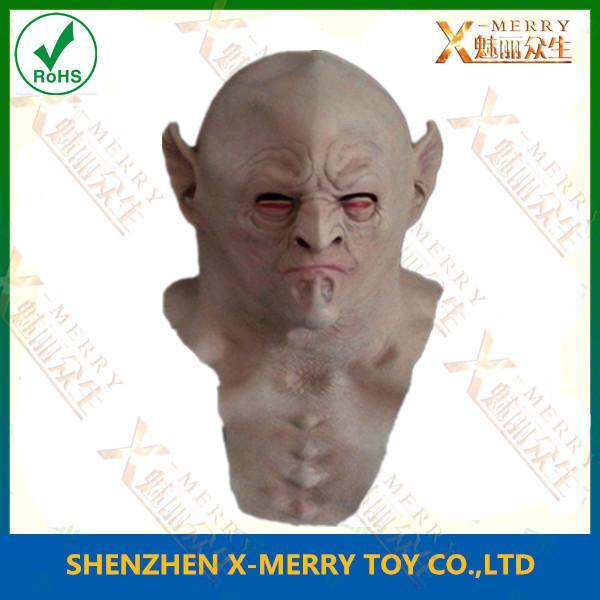 bald elf overhead mask cosplay mask halloween mask latex. Black Bedroom Furniture Sets. Home Design Ideas