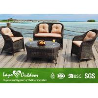 Wholesale Leisure Hotel Garden Outdoor Sofa Round Coffee Table Wicker Hotel Garden Coffee Sofa from china suppliers