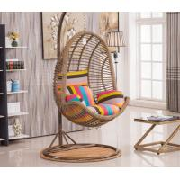 Wholesale Indoor Outdoor Furniture Patio Rattan Double Size Swing Hanging Egg Chair With Steel Pole And Egg Chairs from china suppliers