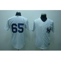 Wholesale Yankees # 65 Hughes white from china suppliers