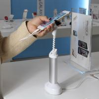 Wholesale COMER cellphone charger alarm display stand for retail shop with cable concealed inside from china suppliers