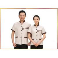 Delicate Handwork Hotel Staff Uniforms Various Colors Slim Fit V - Neck Style for sale
