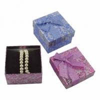 Wholesale Extra Large Gift Boxes For Bracelets , Printed Cardboard Jewellery Boxes from china suppliers