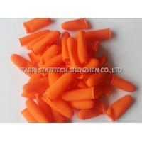 Wholesale Cut off Orange Anti Static Gloves / Anti Slip Finger Stalls with Textured Surface from china suppliers