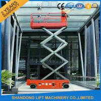 Quality Battery Powered Self Propelled Scissor Lift Platform for Aerial Installation / Maintenance Working for sale