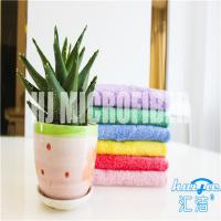 Wholesale Super soft piped 80% polyester and 20% polyamide 40*60cm square coral fleece kitchen cleaning towel from china suppliers