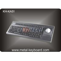Wholesale 86 Keys Rugged Industrial Plastic computer keyboard with 51mm trackball from china suppliers